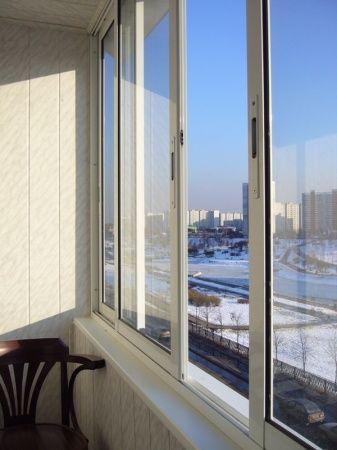 Вид однокамерного пластикового окна